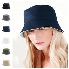 dd159cc29c8 Mens Womens Ladies Bucket Sun Hat Reversible Summer 2 in 1 Beach Fisherman  Hat