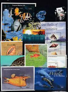 NR 10S/S - MNH - FISH - MARINE - TROPICAL- SHELLS - OCEAN - WHALES - WHOLESALE