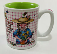 Mary Engelbreit Coffee Cup Mug Friends Are The Flowers In Garden Of Life 10oz