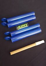 "5 BLUE King J Doob Tubes Raw/Rolled Cone Storage MMJ Vials 4.5"" Long (109mm)"