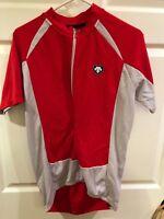 Descente Cycling Shirt Half Zip Short Sleeve Orange Men's Sz XL
