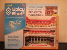 SPICY SHELF- Patented Stackable Organizer for Kitchen Cabinets NEW Opened Box