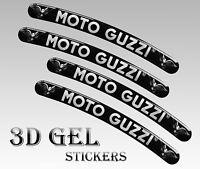 4 MOTO GUZZI FELGENRANDAUFKLEBER 3D AUFKLEBER AUTO MOTORRAD RIM STICKERS RS 4