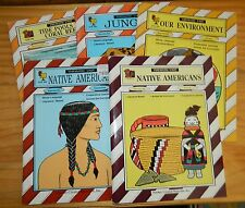 Lot of 5 THEMATIC UNIT Workbooks* Environment NATIVE AMERICANS Jungle TIDE POOLS