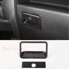 For Ford F150 2015-2017 Black Wood Car Co-pilot storage box handle Trim Cover