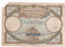 Billet 50 francs Luc Olivier Merson 1927 TB++
