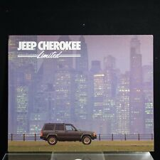 1987 Jeep Cherokee Limited Dealer Sales Brochure, 6 Page Fold Out, Very nice