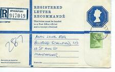 GB - REGISTERED ENVELOPE - SIZE G - 75p - STOCKPORT - 947049