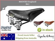 LEATHER BIKE SADDLES - SPRUNG - BROOKS ENGLAND - B67 LEATHER BICYCLE SEAT