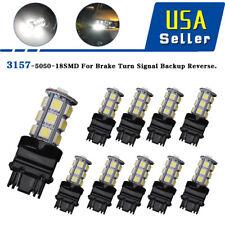 10X White 3157 3156 18 SMD LED Tail/Brake Daytime Running Light Bulbs T25 4114