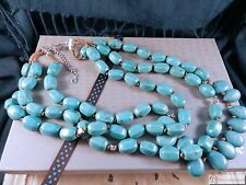 SILPADA N3023~Drops of the Ocean ~ Howlite Sterling Silver Multi-Strand Necklace