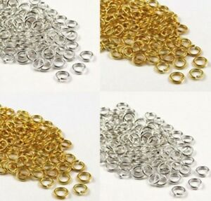 100 Gold & Silver Plated Metal Strong Jump Rings 1.2mm Thick  6,7,8,9,10,12,14mm