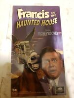 Francis in the Haunted House VHS Universal 1995 Mickey Rooney Virginia Wells HTF