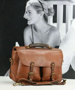 LEVENGER Vintage Leather Briefcase Messenger shoulder Bag Mens