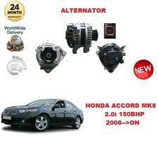 Per HONDA ACCORD MK8 2.0 i 150BHP 2008 -- > NUOVO 105A Alternatore Unità