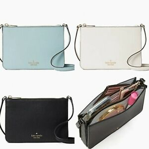 Kate Spade Darcy Small Triple Compartment Crossbody Black Leather