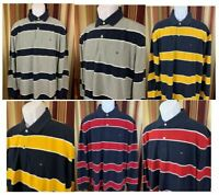 NWT Men's Tommy Hilfiger Rugby Polo Long Sleeve Shirt Classic Fit 100% Cotton