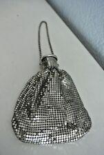 Vintage Accordion Expandable Metal Mesh Silver Purse Wristlet