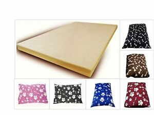 """A CLASS MEMORY FOAM DOG BED, BONES AND PAWS, SIZE: LARGE (38"""" X 28"""""""