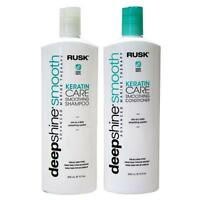 Rusk Deepshine  Smooth Keratin Care Smoothing Shampoo Conditioner 12 oz