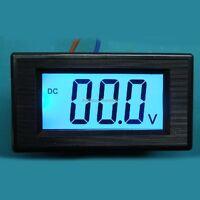 500V DC Blue LCD Digital Volt Panel Meter Voltmeter led display ac/dc 8-12v car