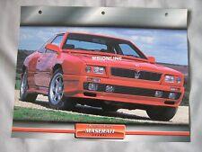 Maserati Shamal Dream Cars Card