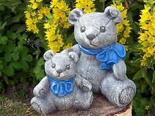 sculpture en pierre ourson ours peluche 2er Set d'animal figurine de jardin