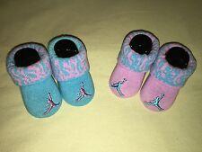 Nwb Nike Air Jordan Infant Booties Purple Blue Teal Socks Cute!