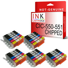 25 XL Ink Cartridges For PGI550 CLI551 Canon Pixma iP7250 MG5450 MG6350 MX925