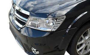 Chrome Front Head Light Lamp Surrounding Garnish Trim for Dodge Journey 2009-16