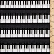 PIANO KEYS Fabric Fat Quarter Cotton Craft Quilting - Music KEYBOARD Instruments