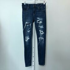 American Eagle Outfitters Size 4 Jeggings Jeans Distressed Next Level Stretch