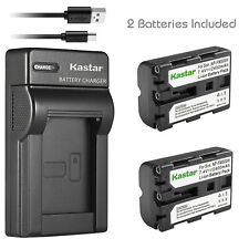 Kastar 2 NP-FM500H Battery + Charger for Sony Alpha SLT A57 A58 A65 A77 A99 A200