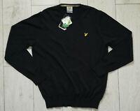 "*NEW* Lyle & Scott Golf ""XL"" Jumper Navy Cotton Mens Sweater"