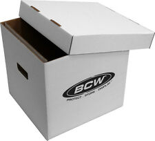 "(1) BCW-BX-33RPM-BOX 12"" Vinyl Record 65 Count White  LP Storage Box Case Holder"