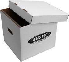 "(1) BCW-BX-33RPM-BOX 12"" Vinyl Record 65 Count White  LP Storage Box Case Holder"