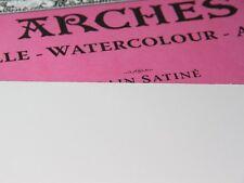 ARCHES PAQUET 8+2 FEUILLES PAPIER AQUARELLE GRAIN SATINE 300 Grs FORMAT 56X76CM