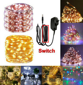 10M-50M LED String Fairy Xmas Party Lights Copper Wire Mains Plug In Warm/ White