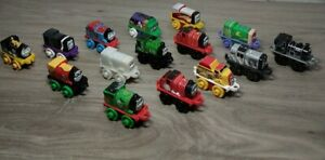 Thomas The Train Minis Lot 15 Trains DC Super Joker Flash Robin Superman Salty