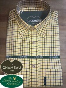 Le Chameau Mens Wells Shirt Juane Clan Yellow Shooting Hunting Country Top