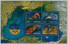 Rumänien 2007 Mi.Block 393 ** Fauna des Schwarzen Meeres,Tiere,BLACK SEE