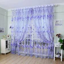 Floral Tulle Voile Door Window Curtain Drape Panel Sheer Scarf Valances YW