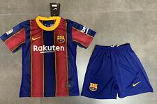 20/21 Barcelona Football Soccer Kit Kids Boys Jersey Strip Sports Outfit