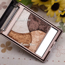 3D 4 Colors Makeup Neutral Naked Baked Highlight Eye Shadow Warm Nude Eyeshadow