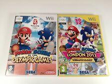 Nintendo Wii Game Bundle Mario + Sonic Olympics Games & London 2012