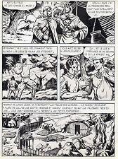 BOB LEGUAY  VOYAGE PALPITANT PLANCHE ORIGINALE TIM L'AUDACE ANNEES 1950 PAGE 23
