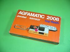 610KX1 Set in OVP: Agfa AGFAMATIC 2008 pocket, sensor, top flash; Pocketkamera