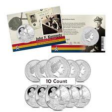 Lot of 10 - 2017 1 oz Silver John F. Kennedy JFK Solomon Islands $1 Coin .999