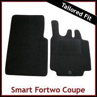 Smart Fortwo Coupe Mk1 / W450 Facelift 2003-2007 Tailored Carpet Car Mats BLACK