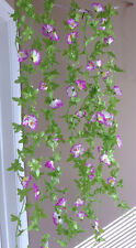 6 Bunches Artificial Morning Glory Flower Vines Hangings